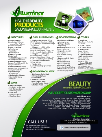 ILLUMINAR CORPORATION PRODUCT LIST & SERVICES