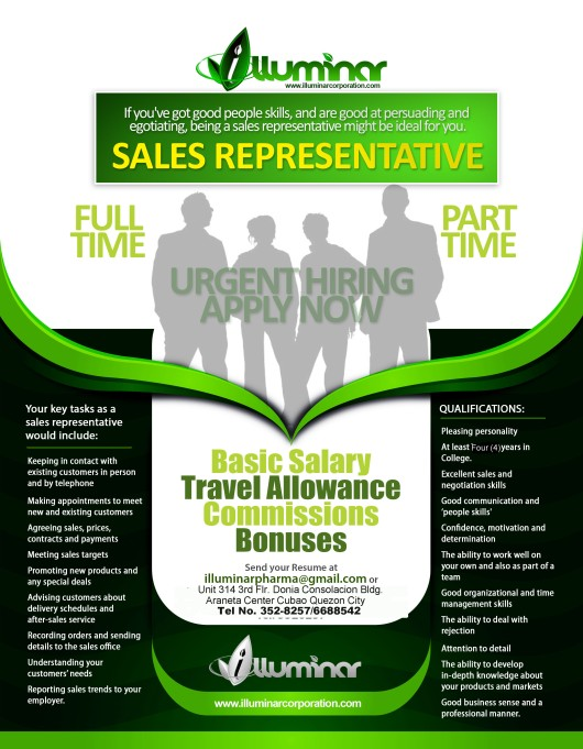 Wanted: Medical/Sales Representative